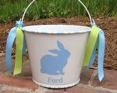Personalized Easter basket, Easter Pail, Easter bucket, monogram, Custom, Boy Easter, farmhouse decor, rustic, baby shower gift, wedding