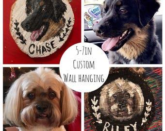 Custom pet wall hanging