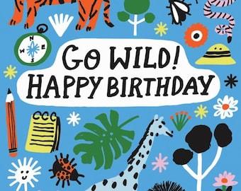 Go Wild Safari Birthday Notecard