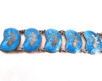 SALE Sterling Siam Bracelet Blue