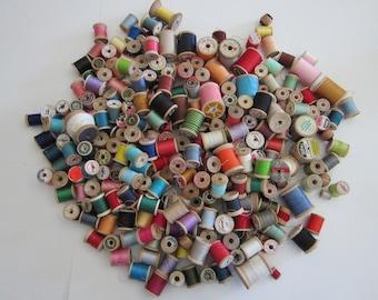 vintage thread - 260 wooden spools