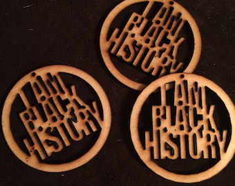 12 I Am Black History Unfinished Wood Shapes