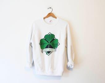 Vintage Ireland Irish Shamrock Sweatshirt