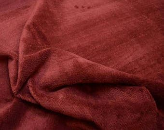 Maroon Wine Red Soft Chenille Upholstery Fabric