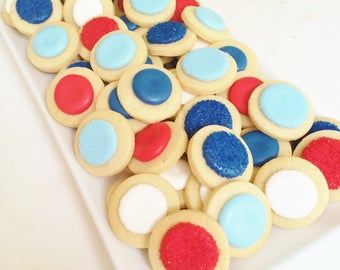 "4th of July Confetti Cookies Style 4 (1 pound 1.5"")"