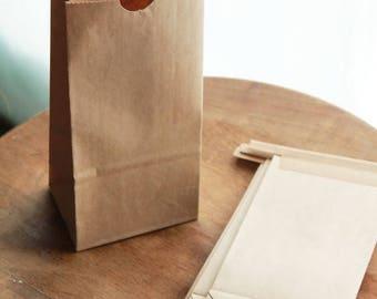 ON SALE 1/2 Pound Kraft Tin Tie Coffee Bags Lot of 40