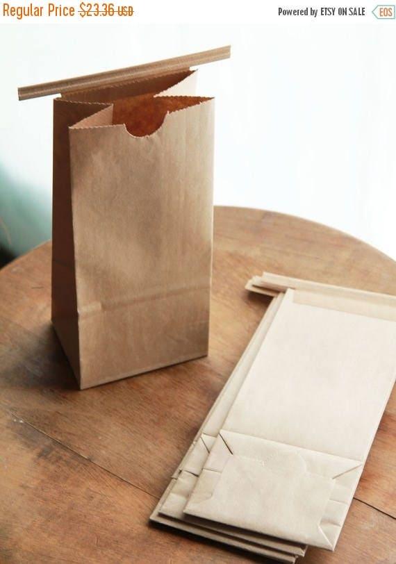 ON SALE 1/2 Pound Kraft Tin Tie Coffee Bags Lot of 65