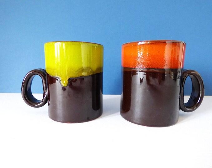 Mugs Studio Pottery Vintage Lava