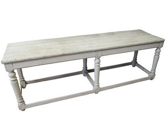 ON SALE Kitchen Island Restaurant Serving Prep Table Refectory Console, 100 Years Old
