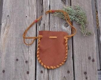 ON SALE Crystal  bag , Fetish bag , Leather medicine bag , Drawstring pouch , Ready to ship