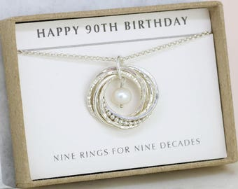 90th birthday gift for mother, grandma gift for 90th birthday, 9th anniversary gift - Lilia