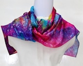 Hand dyed Silk Scarf, Gift for Her, Ready to Ship, 66 x 11 inches, Made in Australia by SallyAnnesSilks on Etsy S181