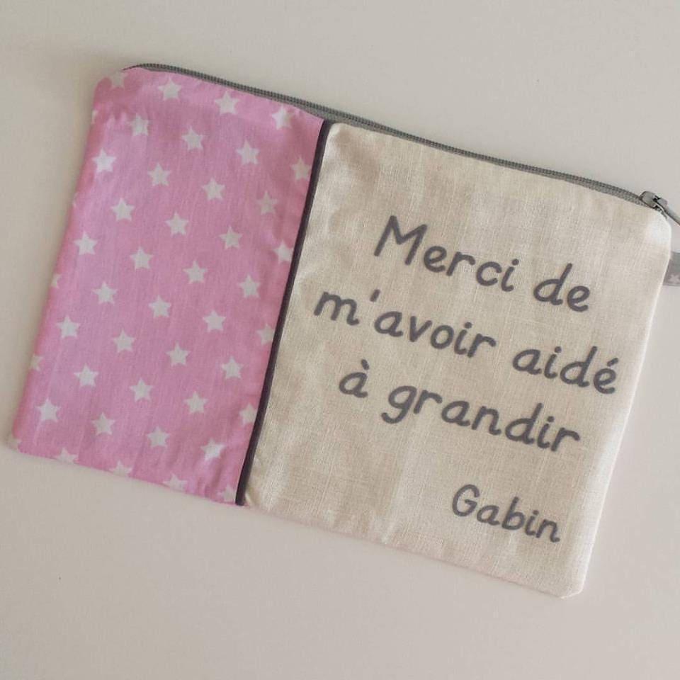 Cadeau nounou cadeau cr che pochette texte - Cadeau nounou fin d annee ...