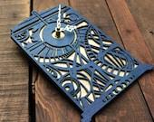 Doctor Who Clock | Timey Wimey TARDIS Clock | TARDIS Blue Wall Clock | Gallifreyan Clock | Doctor Who Gift
