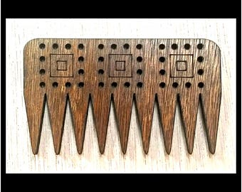 """Stitchable """"B Squared"""" Wooden Weaving Comb Beater DIY *Walnut/ Cherry/ Red Chestnut/ Jacobean Finish*"""