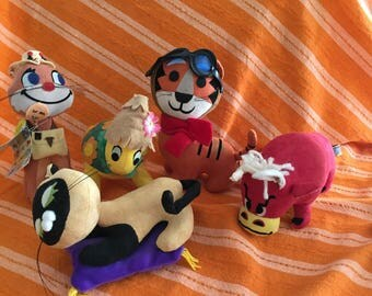 Rare huge group- vintage Dakin Dream Pets - New Dream Pets - Fun Farm - Treasure Pet - Dream Pet Ads