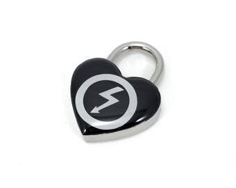 Custom Black and White Heart Lock RESERVED
