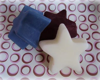 Star Patriotic Wax Tart Melts red white and blue