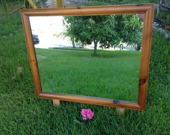 """MCM FRANKLIN SHOCKEY Mirror / Franklin Shockey Solid Wood Mirror / 45"""" x 37"""" x 1.5"""" / Mid Century Modern Mirror at Retro Daisy Girl"""
