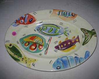 beautiful large Antica Fornace fish platter