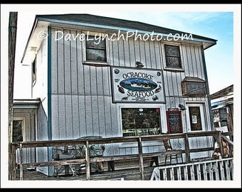 Ocracoke Seafood - OBX - Ocracoke Island NC -  Art Photography Print by Dave Lynch - Free Shipping on additional purchase