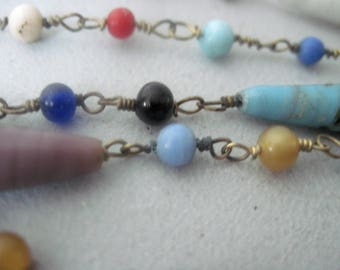 Vintage long Beaded Flapper Necklace