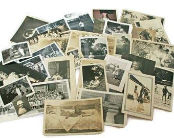 66 Vintage Photo Lot  /  Kids Photographs  /  Baby Snap Shots  /  Old Family Photos  /  Black and White and Sepia  /  Vintage Ephemera