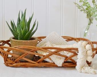 Vintage Wicker Bread Basket