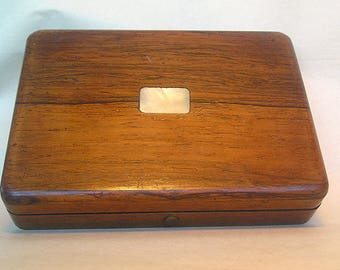 A Fine Signed Inscribed Wood Box Z7