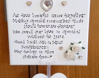 Personalised On Your Wedding Day Couple Marriage Poem Gift Plaque