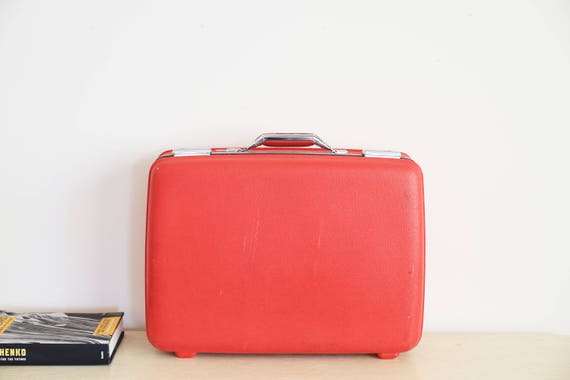 Vintage Luggage Red Tourister Hard Suitcase