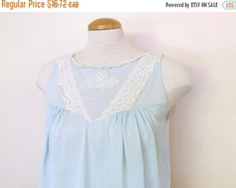 20% SALE Light Blue Nightgown Sleep Dress Top - Ladies Small/Medium