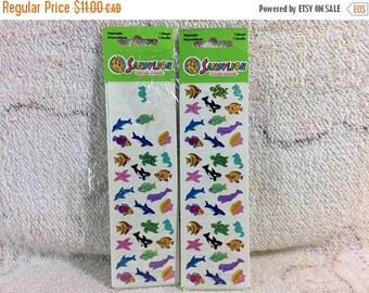 15% OFF 2 Packs of 1990s Sandylion Prismatic Tropical Fish Stickers Retired Design Metallic