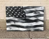 American Flag No. 29 Large Pop Art Painting on Canvas 24 x 36