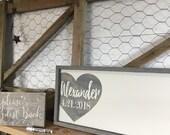Rustic Wedding Guest Book Alternative - Wedding Guestbook - Wedding Sign In Book - Wood Wedding Signs -