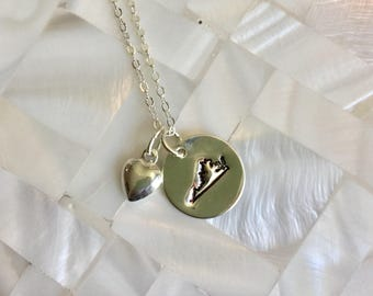 State Pride Virginia Necklace Sterling Silver