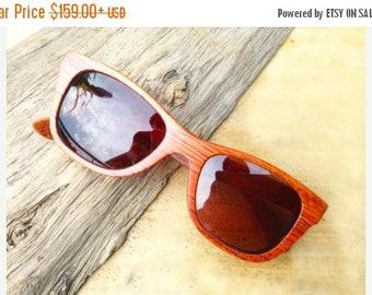 20% off SUMMER SALE WALKER2012 handmade red rosewood wooden Takemoto sunglasses glasses