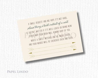 Baby shower book library rustic woodland camping digital download
