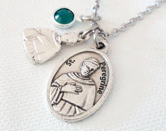 Cancer survivor gift Cancer patient gifts Cancer jewelry Cancer gifts Cancer survivor necklace Gift cancer survivor St Peregrine necklace