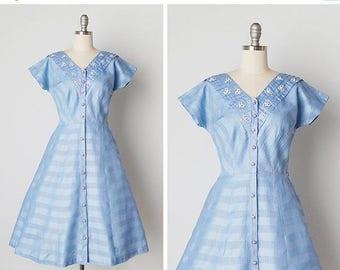 30% OFF SALE vintage 1950s dress / 50s floral dress / 1950s Toni Todd dress / Fairhope dress