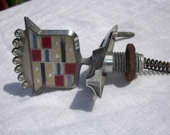 Vintage Cadillac Hood Ornament Emblem and Base Car Parts Accessories