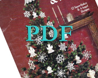 PDF - Crocheted Snowflakes & Angels - 1983