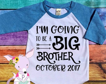 I'm going to be a big brother raglan top boys big sister shirt pregnancy announcement shirt big brother  announcement shirt raglan