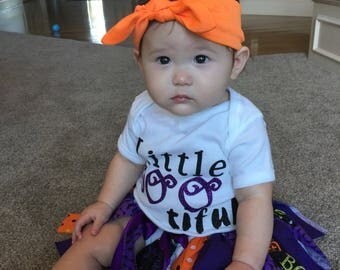 Baby Girl Halloween Outfit - Halloween Photo Prop - Baby Girl Outfit - Halloween Tutu - Little Girl Costume - Halloween Party Decor