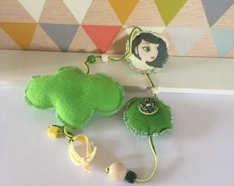 Garland / fabric pendant * Alwina *.