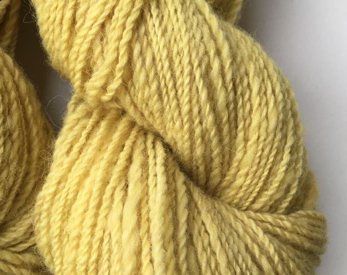 Yellow Margurite Flower Hand Dyed Alpaca Merino Yarn