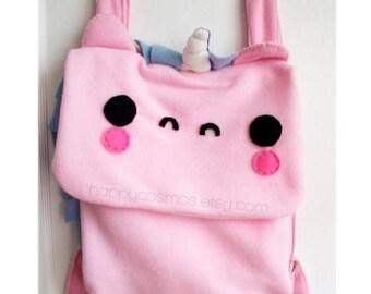 ON SALE - Unicorn Backpack - Pick your Colors, Schoolbag, Backpack, Bookbag, Animal Backpack, Reusable Bag, Children's Bag, Christmas Gift