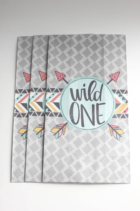 sale 12 wild one favor bags paper treat sacks where the wild things are first birthday party