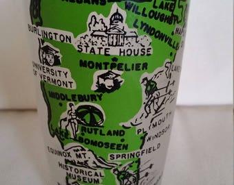 Mid-Century Vermont Souvenir Glass (green)