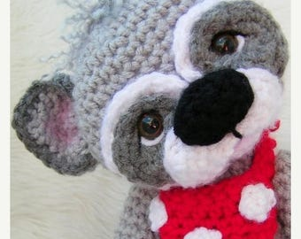 Summer Sale Crochet Pattern Cute Raccoon by Teri Crews Wool and Whims Instant Download PDF Format